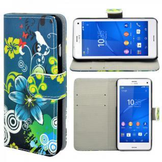 Schutzhülle Wallet Tasche Muster 21 für Sony Xperia Z1 Compact ( Mini ) Hülle