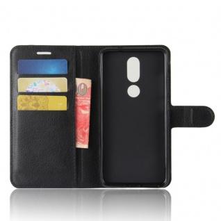 Tasche Wallet Premium Schwarz für Wiko View Prime Hülle Case Cover Etui Schutz - Vorschau 5