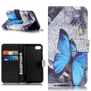 Schutzhülle Muster 63 für Apple iPhone 7 Bookcover Tasche Case Hülle Wallet Etui