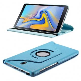 Für Samsung Galaxy Tab S4 10.5 T830 T835 Hell Blau 360 Grad Hülle Cover Tasche