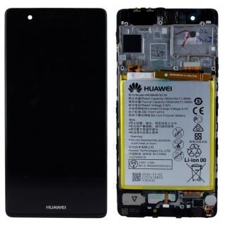 Huawei Display LCD Einheit Rahmen für P9 Service Pack 02350RPT Schwarz Reparatur