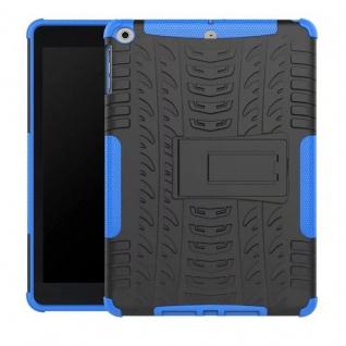 Hybrid Outdoor Schutzhülle Cover Blau für Apple iPad 9.7 2017 Tasche Case Hülle