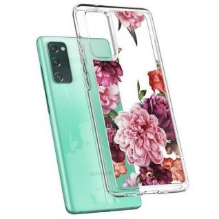 Spigen Silicone Case für Samsung Galaxy S20 FE Transparent / Rose Floral Tasche Schutz Handy Hülle Case Etui