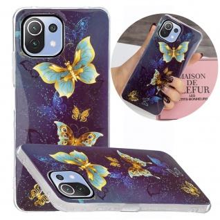 Für Xiaomi Mi 11 Lite Silikon Case TPU Motiv 1 Schutz Hülle Cover Tasche Etuis