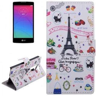 Schutzhülle Muster 42 für LG Spirit C70 H420 Bookcover Tasche Hülle Wallet Case