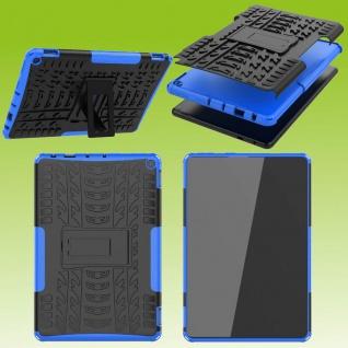 Für Amazon Fire HD 10 / 10 Plus 2021 Hybrid Blau Tablet Tasche Etuis Hülle Cover