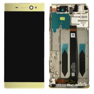 Sony Display LCD Komplett mit Rahmen für Xperia XA Ultra F3211 Gold Ersatzteil
