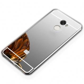 Spiegel / Mirror Alu Bumper Silber für Xiaomi Redmi 5 Plus / Note 5 Tasche Hülle