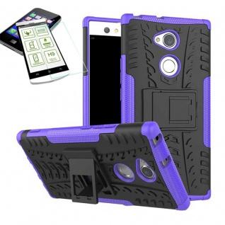 Hybrid Case 2 teilig Lila für Sony Xperia XA2 Ultra + H9 Schutz Glas Tasche Neu
