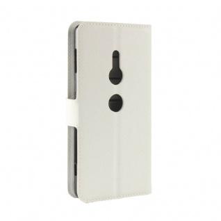 Tasche Wallet Premium Weiß für Sony Xperia XZ2 Hülle Case Cover Schutz Etui Neu - Vorschau 3