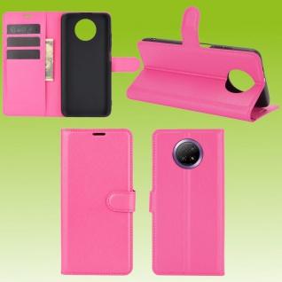 Für Xiaomi Redmi Note 9T 5G Handy Tasche Pink Etuis Kunst-Leder Cover Hülle Case