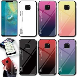 Für Huawei Mate 20 Pro Color Rainbow Effekt Glas Cover Schwarz Tasche Hülle Neu - Vorschau 4