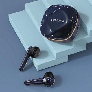 USAMS Wireless Stereo Headset Blau 5.0 TWS SD Series Bluetooth Kopfhörer Micro