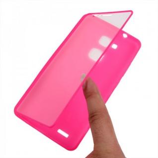 Design Cover mit Frontabdeckung Pink für Huawei Ascend Mate 7 Schutz Tasche Neu