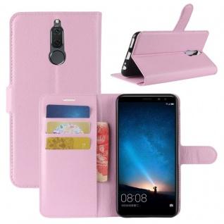 Tasche Wallet Premium Rosa für Huawei Mate 10 Lite Hülle Case Cover Etui Schutz