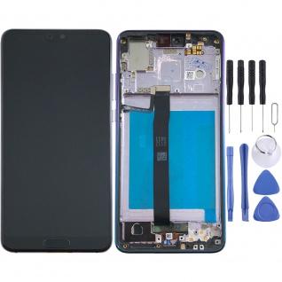 Für Huawei P20 Display Full LCD Touch mit Rahmen Reparatur Twilight Ersatztei