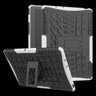 Für Huawei MediaPad M5 Lite 10.1 Zoll Hybrid Outdoor Hülle Weiß Tasche Cover Neu