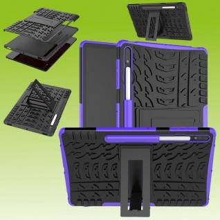 Für Samsung Galaxy Tab S7 Plus / S7 FE Hybrid Lila Tablet Tasche Etuis Hülle Case Cover