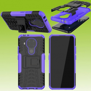 Für Nokia 5.4 Outdoor Lila Handy Tasche Etuis Hülle Cover Case Schutz Zubehör