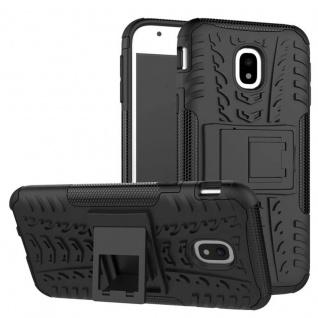 Hybrid Case 2teilig Outdoor Schwarz Tasche Hülle für Samsung Galaxy J7 J730F Neu
