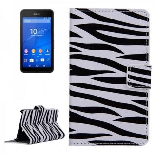 Schutzhülle Muster 7 für Sony Xperia E4G Bookcover Tasche Hülle Wallet Case