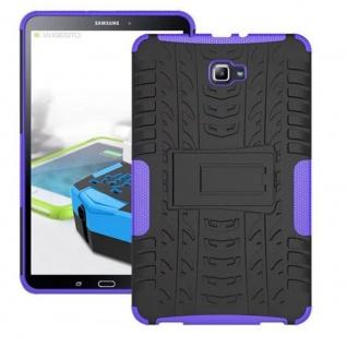 Hybrid Outdoor Schutzhülle Lila für Samsung Galaxy Tab A 10.1 T580 T585 Tasche