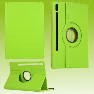 Für Samsung Galaxy Tab S7 Plus / S7 FE Tablet Tasche Hülle Case Etuis Schutz Grün Cover