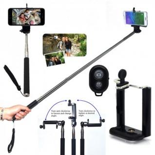Selfie Teleskop Stange Stick Bluetooth Selbstauslöser Fernbedienung Zubehör Neu