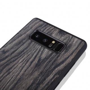 Hybridcase Holz-Optik Dunkel Hülle für Samsung Galaxy Note 8 N950 N950F Tasche