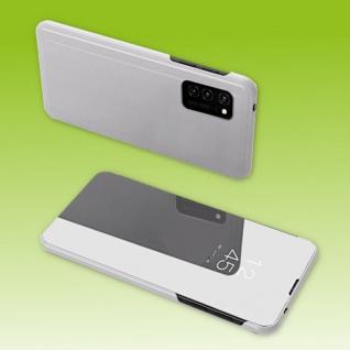 Für Samsung Galaxy A12 A125F View Smart Cover Hülle Silber Handy Tasche Etuis