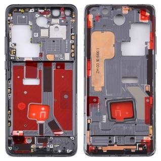 Mittelrahmen für Huawei P40 Pro Schwarz Middle Frame Rahmen Gehäuse Ersatzteil