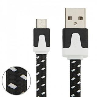 1m USB Daten und Ladekabel Schwarz für alle Smartphone und Tablet Micro USB Neu
