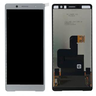 Sony Display LCD Komplett für Xperia XZ2 Compact H8314 Reparatur Silber Ersatz