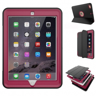 Hybrid Outdoor Schutzhülle Cover Pink für Apple iPad 2 / 3 / 4 Tasche Case Neu