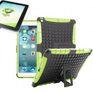 Für Apple iPad 9.7 2018 Hybrid Outdoor Schutzhülle Grün Tasche 0.4 H9 Glas Hülle
