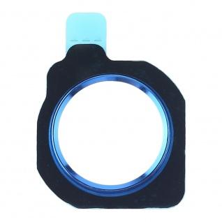 Home Button Protection Ring für Huawei P Smart Plus / Nova 3i Blau Knopf Schutz
