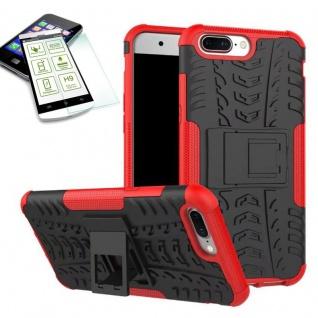 Hybrid Case Tasche Outdoor 2teilig Rot für ONEPlus 5 Hülle + Hartglas Etui Neu