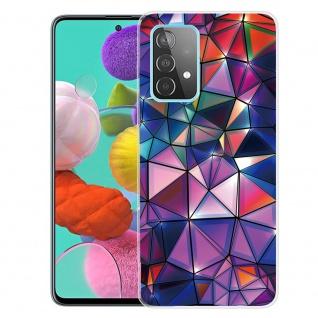 Für Samsung Galaxy A52 Silikon Case TPU Motiv Color Blocks Schutz Hülle Cover