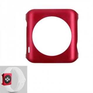 Premium Snap On Alu Backcase Rot für Apple Watch 42 mm Schutzhülle Backcover