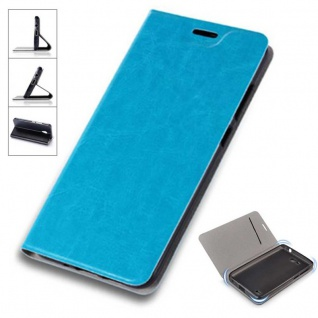 Flip / Smart Cover Blau für Sony Xperia XZ2 Schutzhülle Etui Tasche Hülle Case