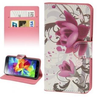 Bookcover Wallet Muster für Smartphones Tasche Hülle Case Etui Cover Schutz Top - Vorschau 5