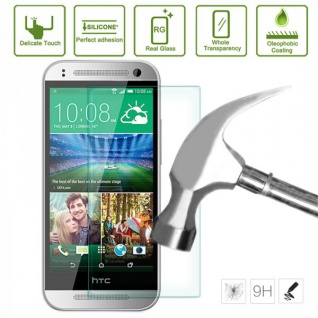 Premium 0, 3 mm Panzerfolie Schock Folie für HTC One 2 M8 2014 Zubehör stabil Neu - Vorschau 2