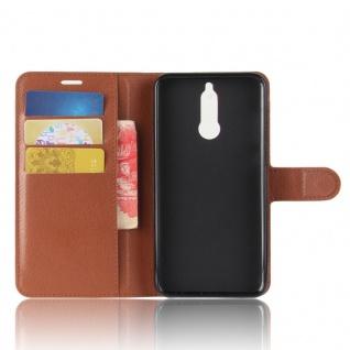 Tasche Wallet Premium Braun für Huawei Mate 10 Lite Hülle Case Cover Etui Schutz - Vorschau 5