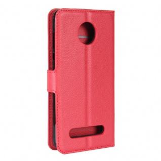 Tasche Wallet Premium Rot für Motorola Moto Z2 Play Hülle Case Cover Etui Schutz - Vorschau 3