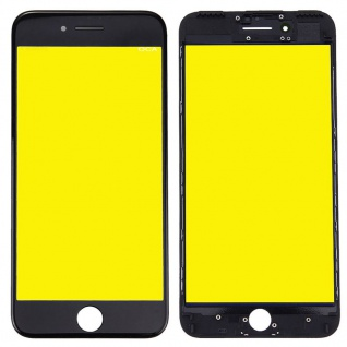 Display Glas für Apple iPhone 7 Plus 5.5 LCD Displayglas Rahmen OCA Kleber Black