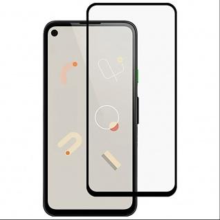 Für Google Pixel 4a 2x 3D Display Full H9 Hart Glas Schwarz Folie Schutz Panzer