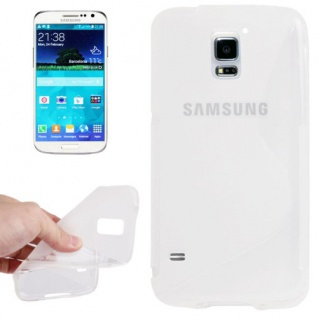 Design Hülle Schutz TPU für Samsung Galaxy S5 Mini G800 Cover Case transparent