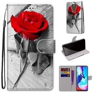 Für Motorola Moto E7 Plus / G9 / G9 Play Kunst-Leder Handy Tasche Motiv 3 Hülle