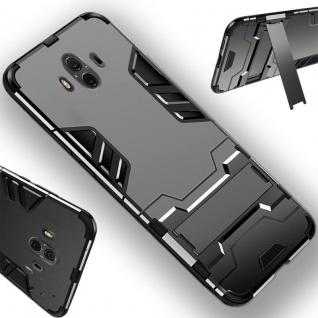 Für Huawei P Smart Plus Metal Style Outdoor Grau Tasche Hülle Cover Schutz Neu