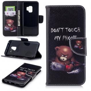 Tasche Wallet Book Cover Motiv 30 für Samsung Galaxy S9 G960F Hülle Case Etui